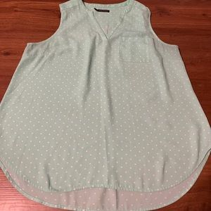 Mint green Polka dot top maurices size 2